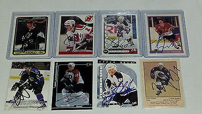 NHL Hockey Stars Autograph - Elias,McSorley, Goulet, Cirella, Gagne and MORE