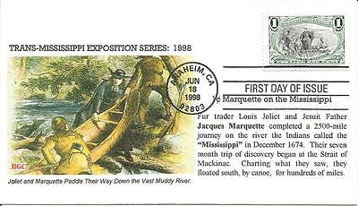 3209a MARQUETTE ON THE MISSISSIPPI FDC - BGC CACHET