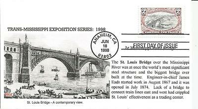 3209b MISSISSIPPI RIVER BRIDGE FDC - BGC CACHET