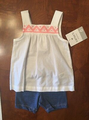 NWT- Infant Girls Carter's Two Piece Short Set-Size 6 Months