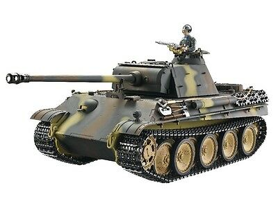 1:16 Taigen Panther G RC Battle Tank 2.4GHz Smoke & Sound Airsoft Metal Edition