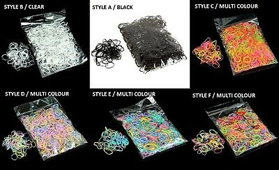 Child Baby Hair Holders Rubber Bands Elastics Girls Tie Gum Multi Clear Black