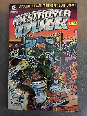 DESTROYER DUCK (ECLIPSE) #1 NM- 1st appearance of GROO by Aragones