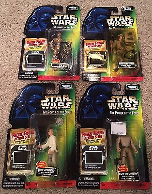 Lot of 4 Kenner Star Wars POTF Collection 1 Red Card Action Figures with Slides