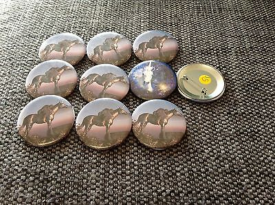 Unicorn Badges Bag Of 10 6cm Party Favours Feat Angel New Age