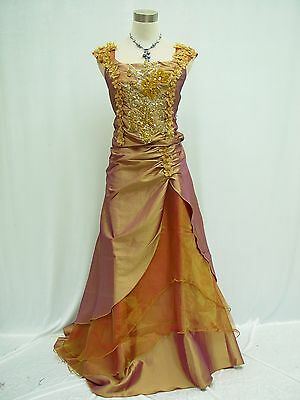 Cherlone Plus Size Gold Ball Wedding/Evening Formal Party Bridesmaid Dress 22-24
