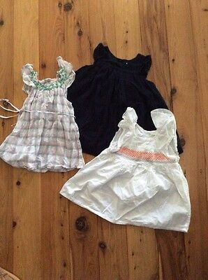 3 X country road baby girls Dresses 6-12 Months