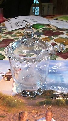1940s CANDLEWICK CANDLE WICK MARMALADE JAM JAR w SPOON &LID L@@K NO RESERVE
