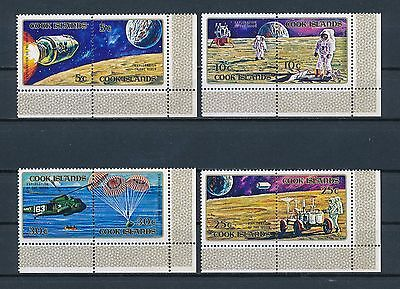 Cook Islands #319-22 MNH, Apollo Moon Mission, 1972