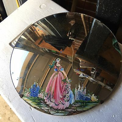 A Vintage Hand Painted Mirror