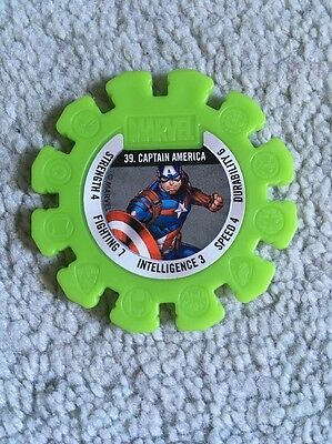 2017 Woolworths Marvel Heroes Collector Green Super Disc #39 Captain America