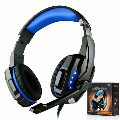 3.5mm Wired Gaming MIC Chat USB LED Light Headset Headphone For PS4 Xbox One
