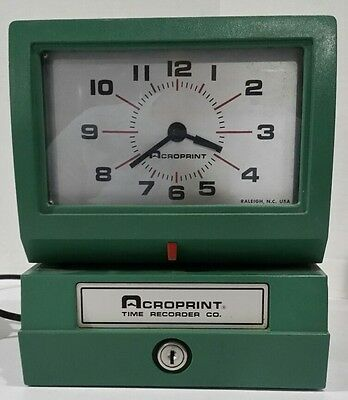Acroprint Heavy Duty Manual Time Recorder Clock Punch without Key 125NR4