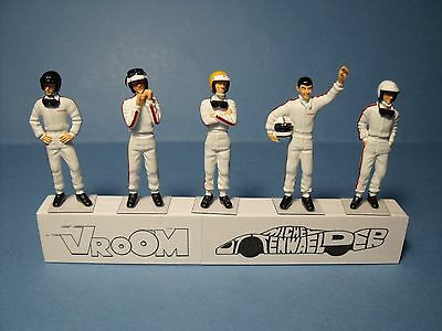 Figures  1/43  O Scale  Sixties  Race  Car  Drivers  Set  246  Made  By  Vroom