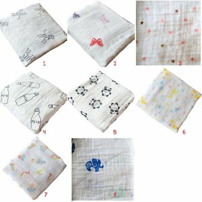 Newborn Baby Infant Cotton Blanket Soft Muslin Baby Bedding Swaddling Towel Wrap