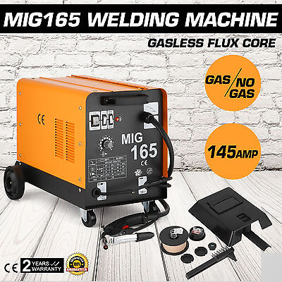Mig165 Gasless Flux Core Welding Machine Auto Wire Commercial Dual MIG Welder