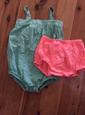 Bonds Romper And Bloomers Baby Girl Size 1