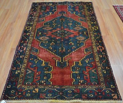 3'7 x 6'7 Gorgeous Authentic Antique Persian Tribal Hand Knotted Wool Area Rug