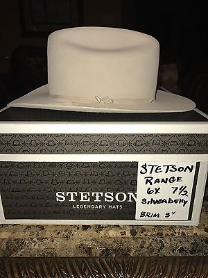"STETSON ""RANCH""  6 X SILVERBELLY WESTERN HAT SIZE 7 1/2  ""It's Rodeo Time"" !"