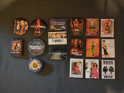 Older Collection of Promotional Movie Buttons - 17 each - Lot #1