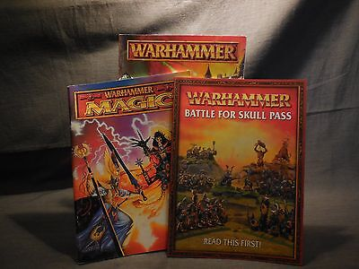 Games Workshop Warhammer Battle Book, Magic Manual, & Skull Pass Campaign Lot