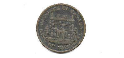 Canada Colonial Token - Bank Of Montreal 1 /2 Penny 1844 (Cns 826)