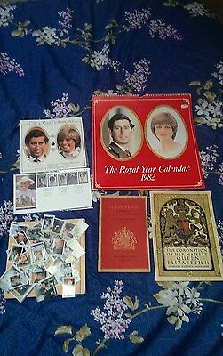 Collectors Royal CORONATION Queen & Prince,Lady Diana,PRINCE Charles Book stamps