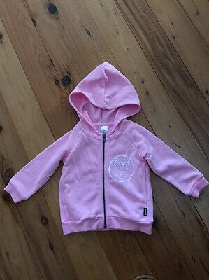 Bonds Baby Girl Hoodie Pink Size 6-12 Months
