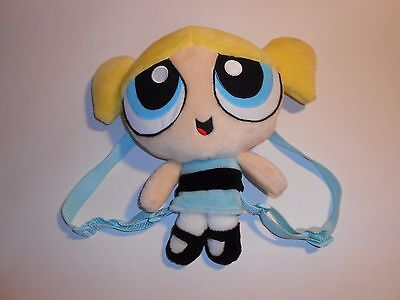 "13"" Powerpuff Girls BUBBLES Plush Backpack / Tote Bag / Purse Cartoon Network"