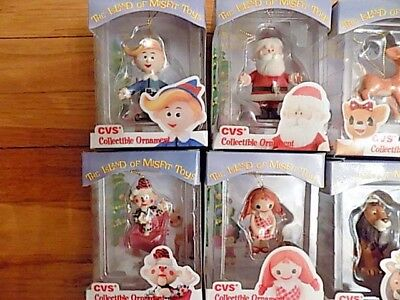 Complete Set 12 Rudolph Misfit Toys 1999 Christmas Ornaments in Boxes