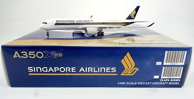 """Singapore Airlines Airbus A350-900 """"10000th"""" JC Wings 1:400 Diecast XX4857"""