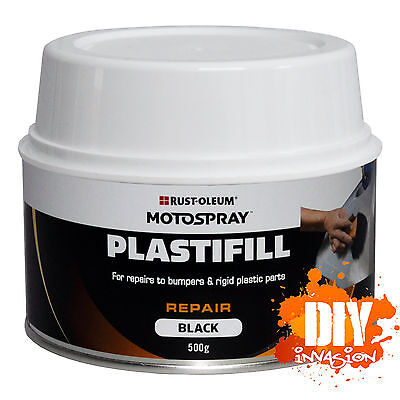 PlastiFill 500gm 2 Pack Polyester Putty Plastic Filler Repairs Bumpers & Plastic
