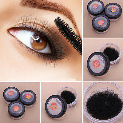 8/10/12mm Naturel Faux Cils Extension Long Noir Cil Individuel Maquillage Beauté