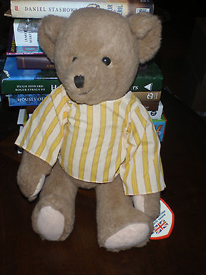 RARE DEAN'S DEANS OF ENGLAND PORRIDGE TEDDY BEAR W/ GROWLER 1980'S Numbered 1695