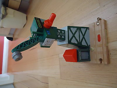 Cranky the Crane from Thomas the Tank.  Wooden track w/sound.  EUC.  PU Melb.