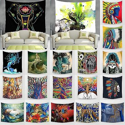 Indian Mandala Tapestry Hippie Bohemian Wall Hanging Tapestries Bedspread Decor