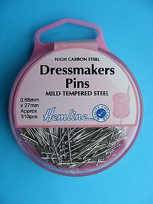 Hemline Dressmakers Pins 27mm x 0.66mm   H700  310pcs.