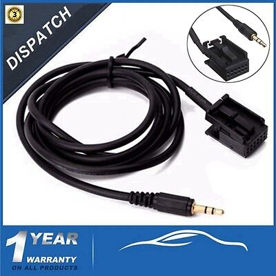 3.5mm AUX-In Input Cable For Ford Focus MK2 C-Max S-Max 6000CD MP3 iPod iPhone