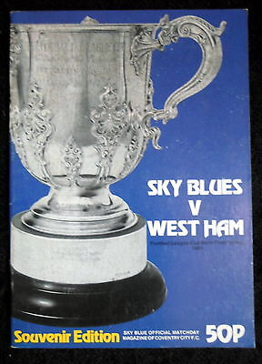 Coventry City v  West Ham United  league Cup semi final      14-1-1981     vgc