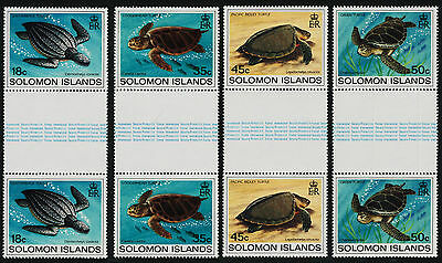 Solomon Islands 489-92 Gutter Pairs MNH Turtles