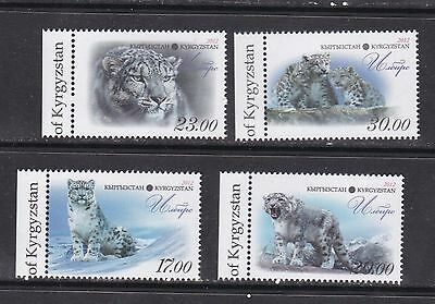Kyrgyzstan 2012 snow leopards wild cats set of 4v MNH