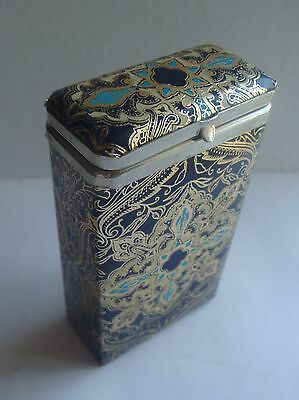 Vintage Ornate Leather Cigarette Case Made In Italy