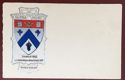 Heraldic Series Postcard - Clifton College, Bristol.