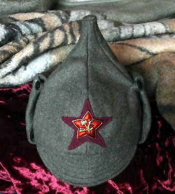Russian Budenovka of the infantryman of The Workers' and Peasants' Red Army