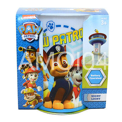 Paw Patrol Kids Safe LED Night Light Battery Operated - Chase, Marshall, Rubble