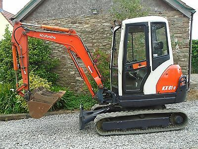 KUBOTA KX61-3 mini digger 2.6 ton excavator q/hitch 3 buckets, delivery finance