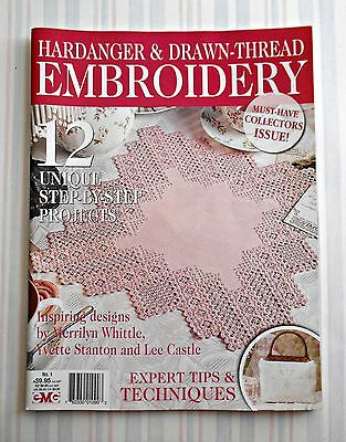 HARDANGER & DRAWN -THREAD  EMBROIDERY - No.1  Collector's Issue - 2009 SC Book