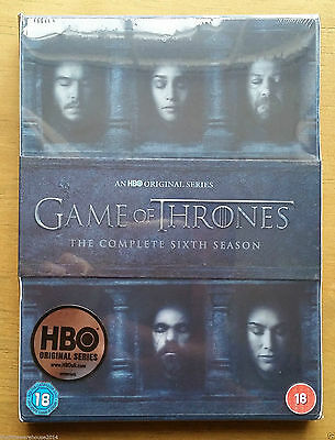 GAME OF THRONES The Complete Sixth Season DVD Series 6 Brand New Genuine UK