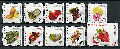 Philippines 2017 MNH Fruits Definitives Sop Bignay Tamarind 10v Set Fruit Stamps