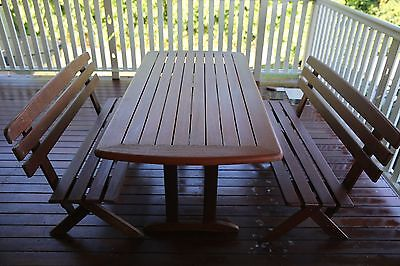 S2DIO Outdoor Table & Bench Set (4 seater)